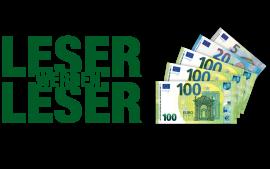 Jetzt Leser werben und bis zu 325 € Prämie sichern!