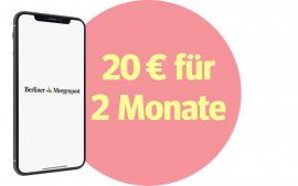 Jetzt sparen: 2 Monate für nur 20 €