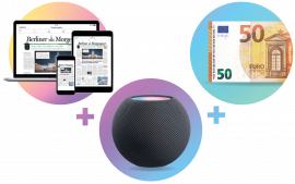 Digital-Paket plus Geschenk: Apple HomePod mini + 50 € in bar